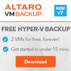 Altaro Hyper-V Backup for Microsoft Hyper-V