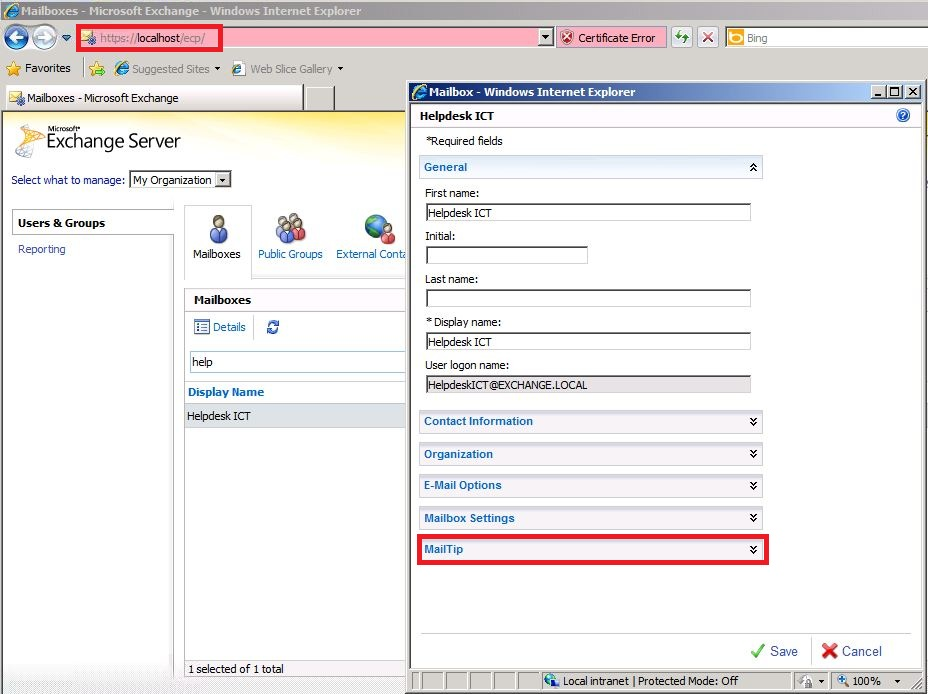 How To Configure Custom Mailtips In Exchange 2010