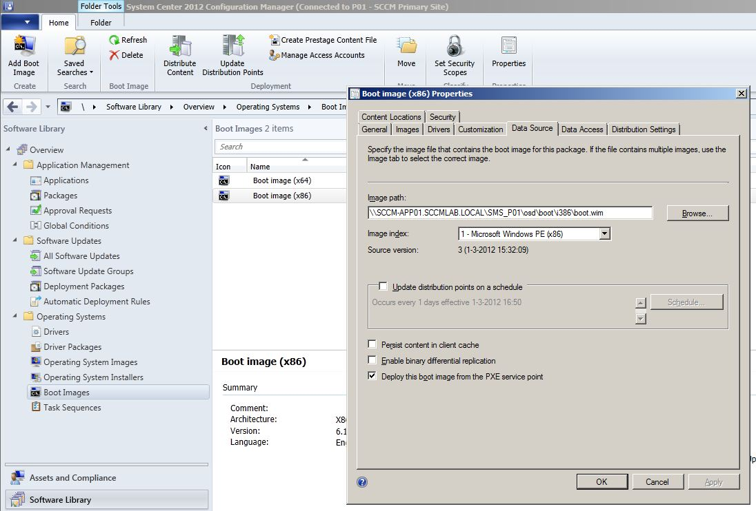 ConfigMgr 2012 PXE-E3B: TFTP Error – File not found «