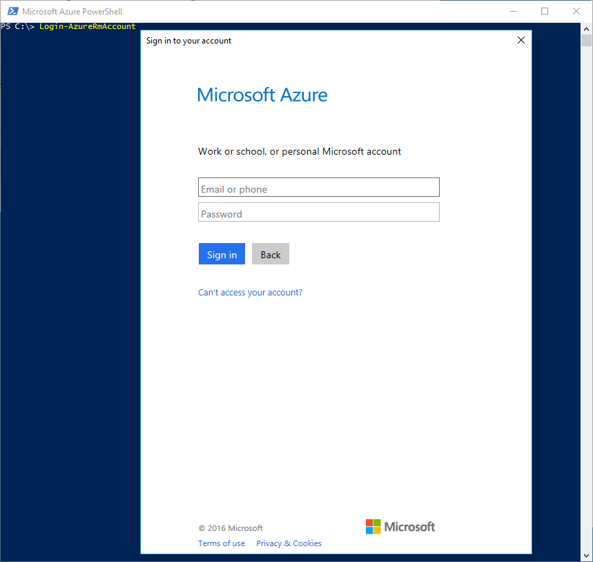 How to: Login to your Microsoft Azure Subscription using