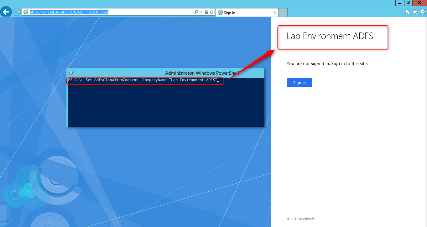 How to: Customize your ADFS loginpage «