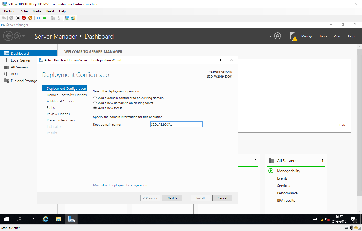 Build a virtual S2D cluster with Windows Server 2019 build 17744 «