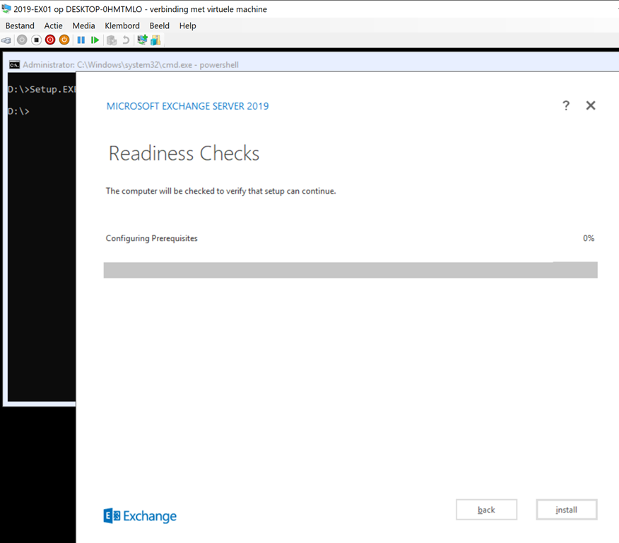How to: Install Exchange 2019 on Windows Server 2019 Core